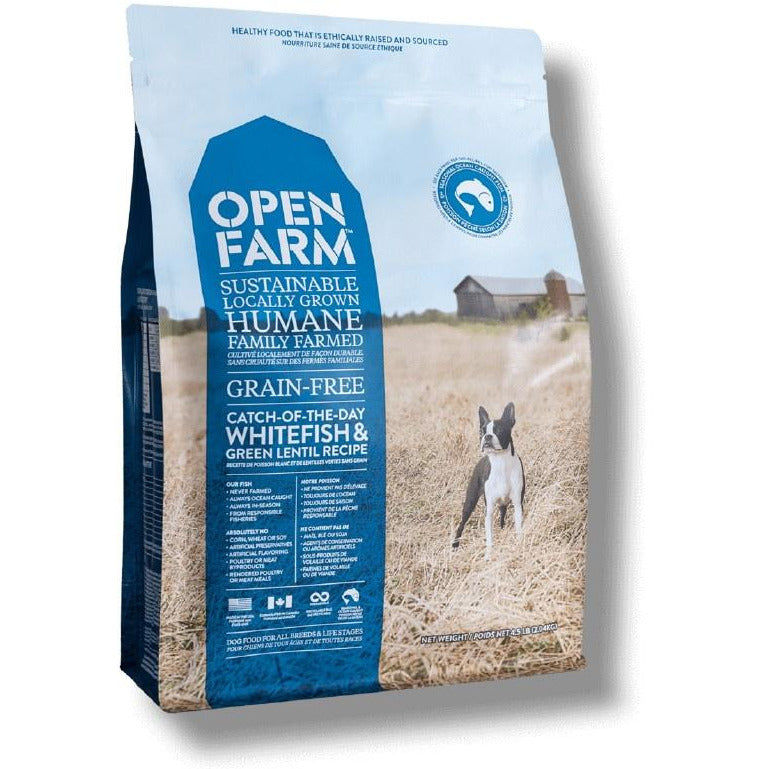 Open Farm - Whitefish & Green Lentil Recipe - Dry Dog Food