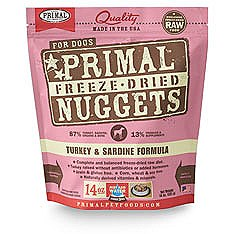 Primal Turkey and Sardine Freeze Dried Dog Food