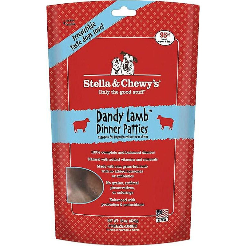 Stella and Chewy's Dandy Lamb Dinner Patties Freeze Dried Dog Food