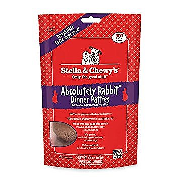 Stella and Chewy's Absolutely Rabbit Dinner Patties Freeze Dried Dog Food
