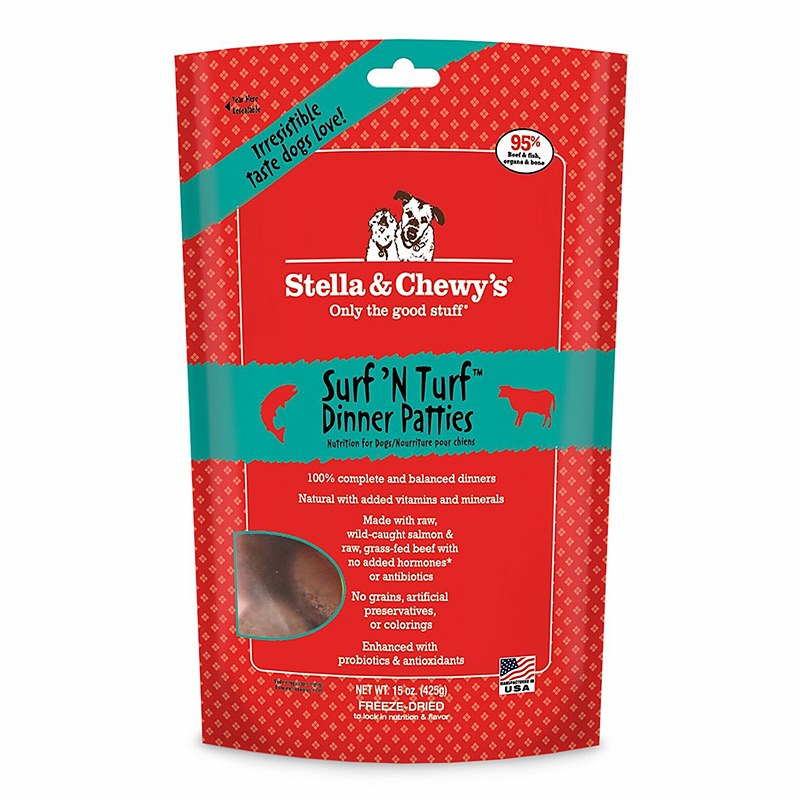 Stella and Chewy's Surf & Turf Dinner Patties Freeze Dried Dog Food