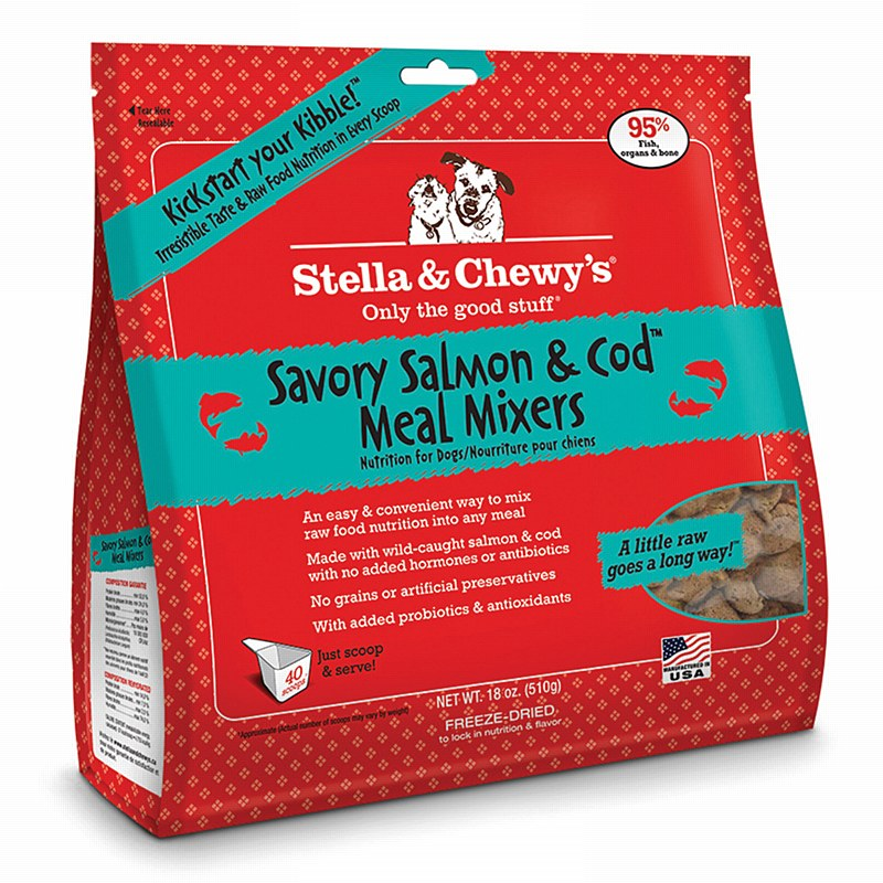Stella and Chewy's Savory Salmon & Cod Meal Mixer Freeze Dried Dog Food