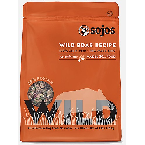 Sojos Wild Boar Freeze Dried Dog Food - 1 lb