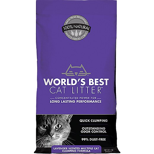 World's Nest Multiple Cat Lavender Scented Clumping Litter