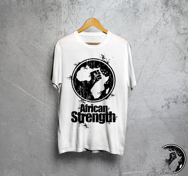 African Strength Distressed Logo Tee