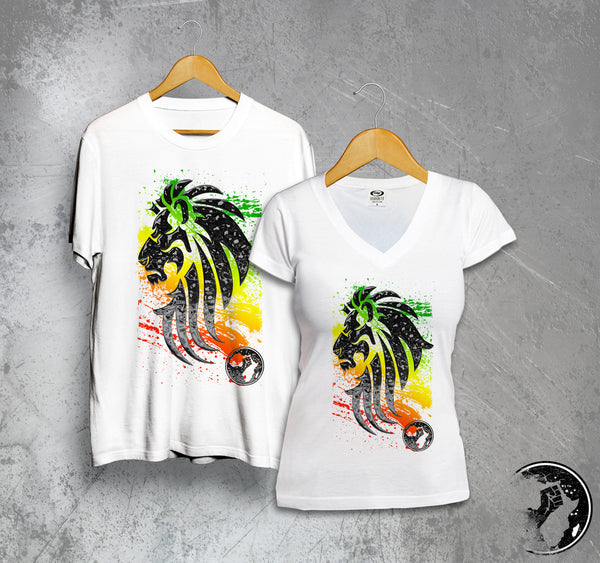 Rasta Lion Full Color Tee