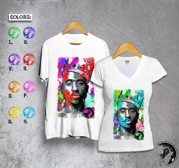 Tupac Splashed Full Color Tee