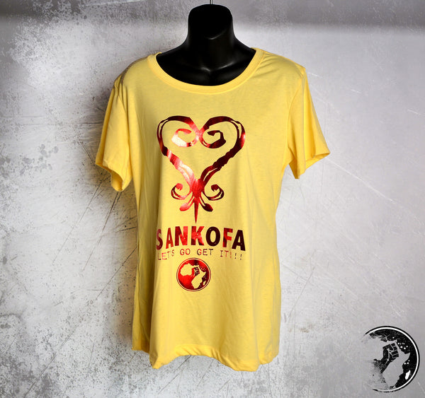 Sankofa Yellow Discounted Tee