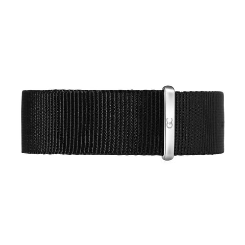 18mm black nylon nato strap silver Buckle Watch Band Strap Women's