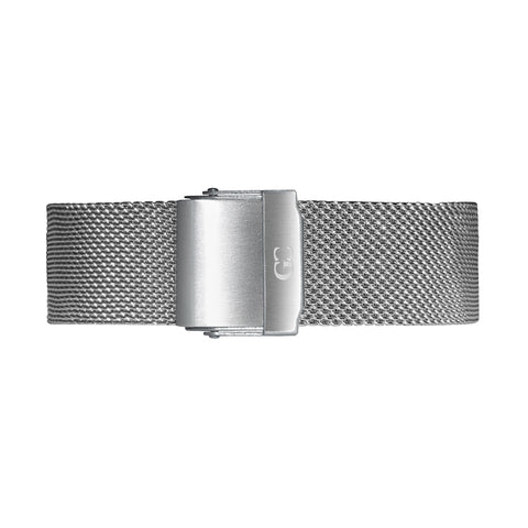18mm silver mesh Buckle Watch Band Strap Women's Watch Band Strap Women's