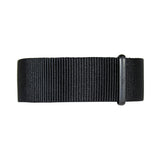 20mm Black Nylon Nato Black Buckle Watch Band Strap Men's