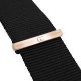 40mm Columbia TL14032 Black Rose Gold Black Nato Nylon Band Strap Men's Watch