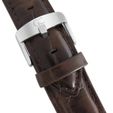 Brown Crocodile Leather 18mm