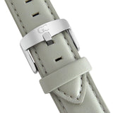 Light Gray Leather 18mm