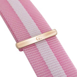 Pink White Nylon NATO 18mm