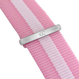 36mm Cornelia TL13671 Black Silver White Pink Nylon Nato Strap Band Women's Watch