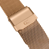 36mm Macdougal TL13666 Black Rose Gold Mesh Band Strap Women's Watch
