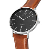 36mm Bedford TL13663 Black Silver Brown Leather Strap Women's Watch