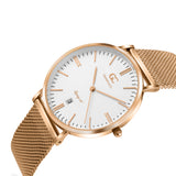 36mm Bethune TL13622 White Rose Gold Mesh Strap Women's Watch