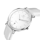 36mm Catherine TL13619 White Silver White Leather Women's Watch