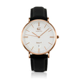 36mm Chelsea TL13602 White Rose Gold Black Leather Women's Watch