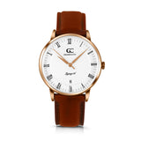 36mm Gansevoort RN13608 White Rose Gold Medium Brown Leather Women's Watch