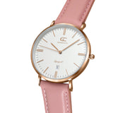 36mm Garment TL13614 White Rose Gold Pink Leather Women's Watch