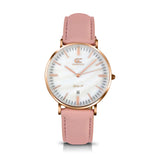 36mm Mulberry TL13634 White Pearl Rose Gold Brown Leather Women's Watch