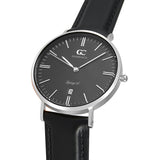 36mm Varick TL13661 Black Silver Black Leather Strap Women's Watch