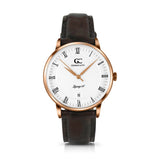 36mm Washington RN13612 White Rose Gold Brown Crocodile Leather Women's Watch