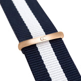 40mm Liberty TL14028 Black White Navy Blue Rose Gold Nato Nylon Band Strap Men's Watch