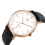 40mm Lexington TL14004 White Rose Gold Black Crocodile Leather Men's Watch