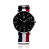 40mm Suffolk TL14029 Black White Red Navy Blue Silver Nato Nylon Band Strap Men's Watch