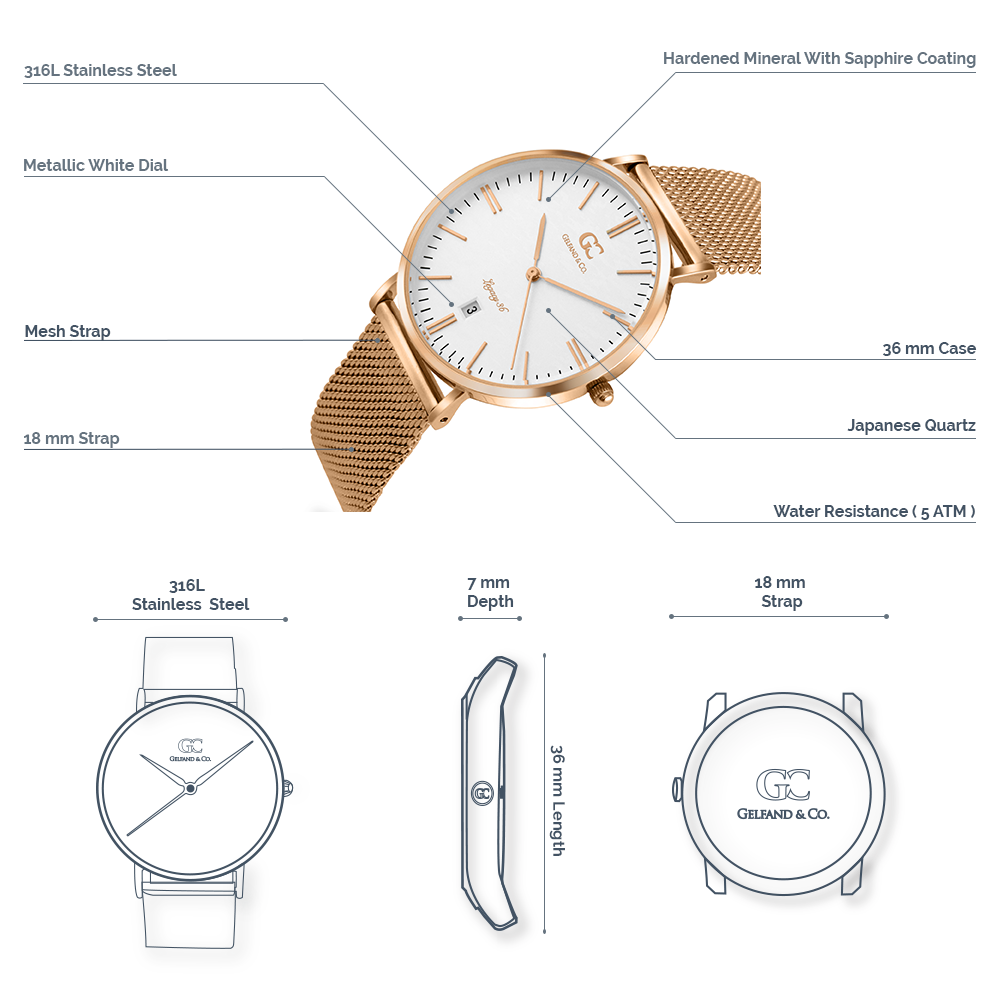 Rose Gold 36mm Watch