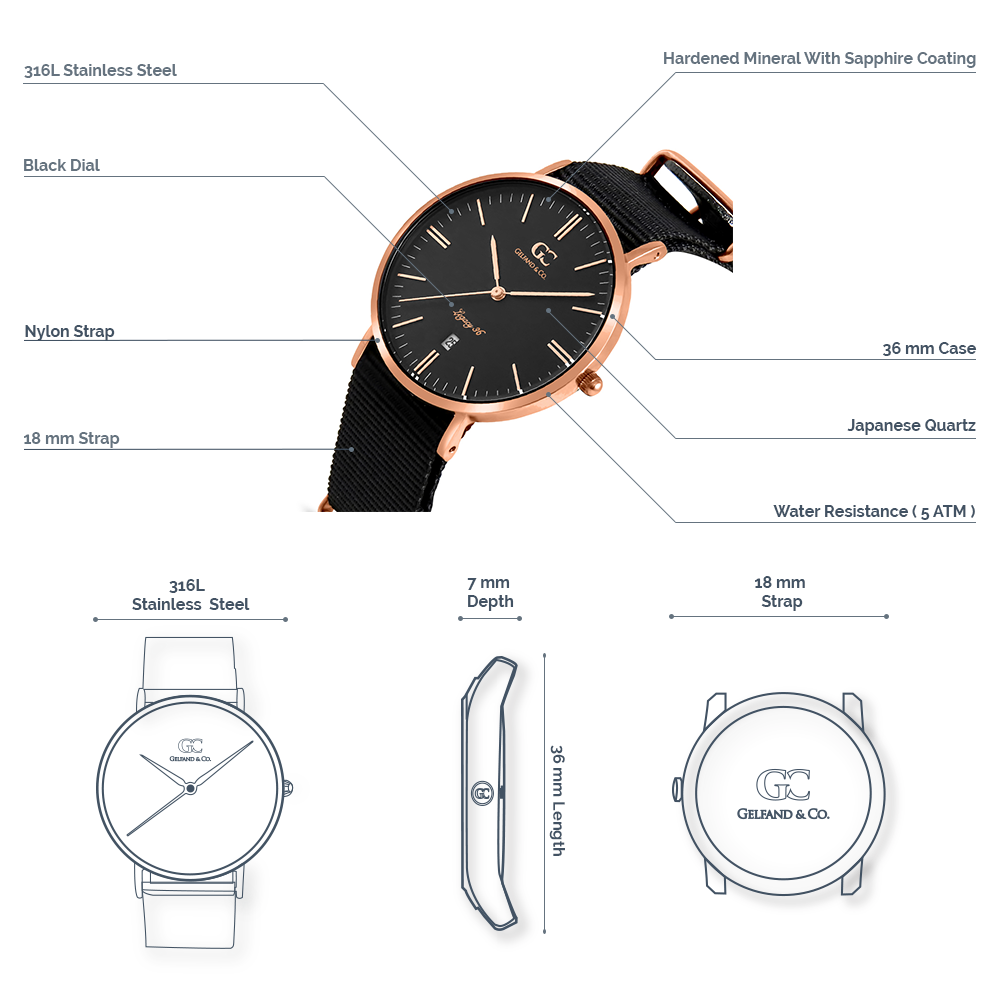 NATO Watches Rose Gold