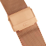 40mm Rivington TL14014 White Rose Gold Mesh Strap Band Men's Watch