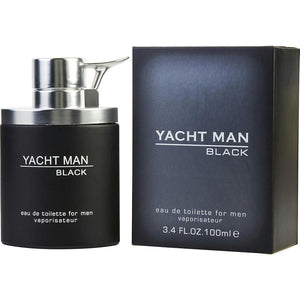 Yacht Man Black By Myrurgia Edt Spray 3.4 Oz