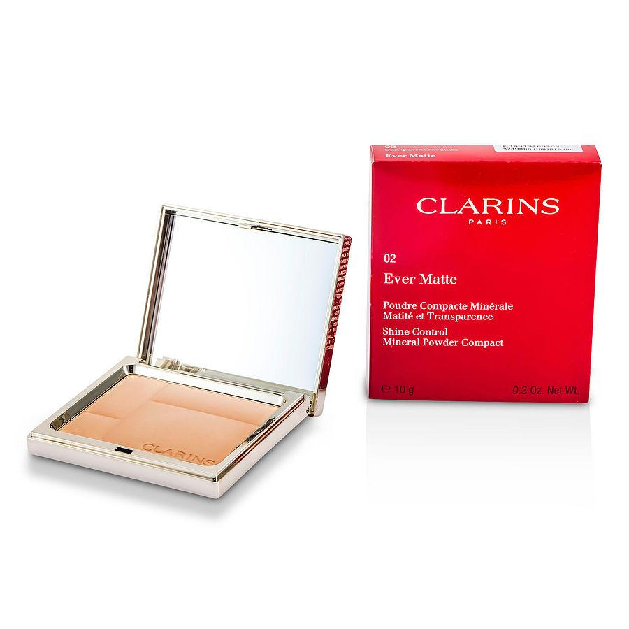 Clarins Ever Matte Shine Control Mineral Powder Compact - # 02 Transparent Medium --10g-0.35oz By Clarins