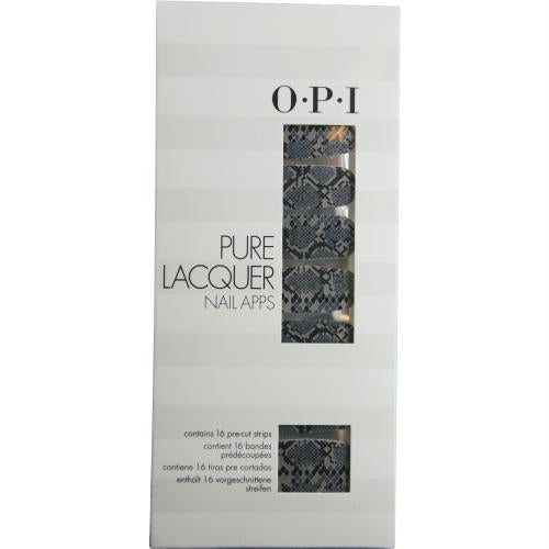 Opi Pure Lacquer Nail Apps--blk-grey Rattlesnake--16 Pre-cut Strips By Opi
