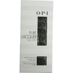 Opi Pure Lacquer Nail Apps--metallic Waves--16 Pre-cut Strips By Opi