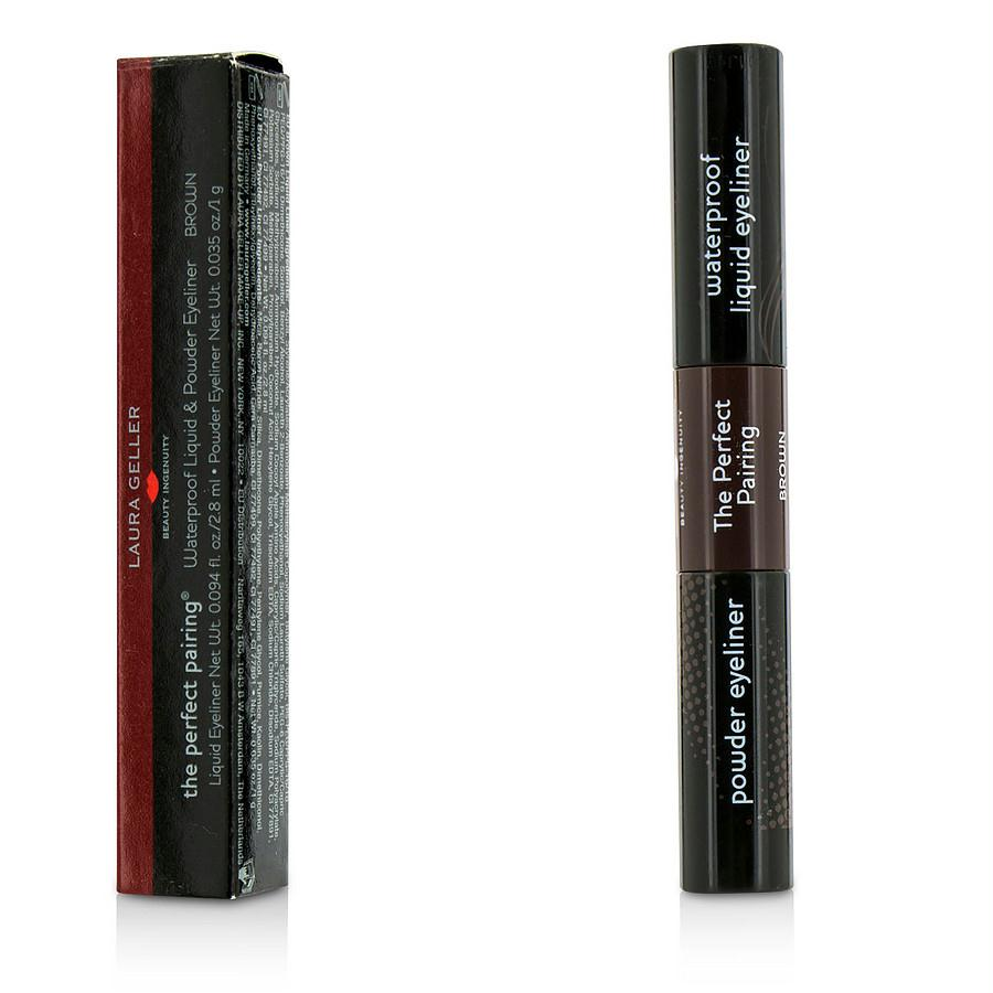 Laura Geller The Perfect Pairing Waterproof Liquid & Powder Eyeliner - # Brown --3.8g-0.129oz By Laura Geller