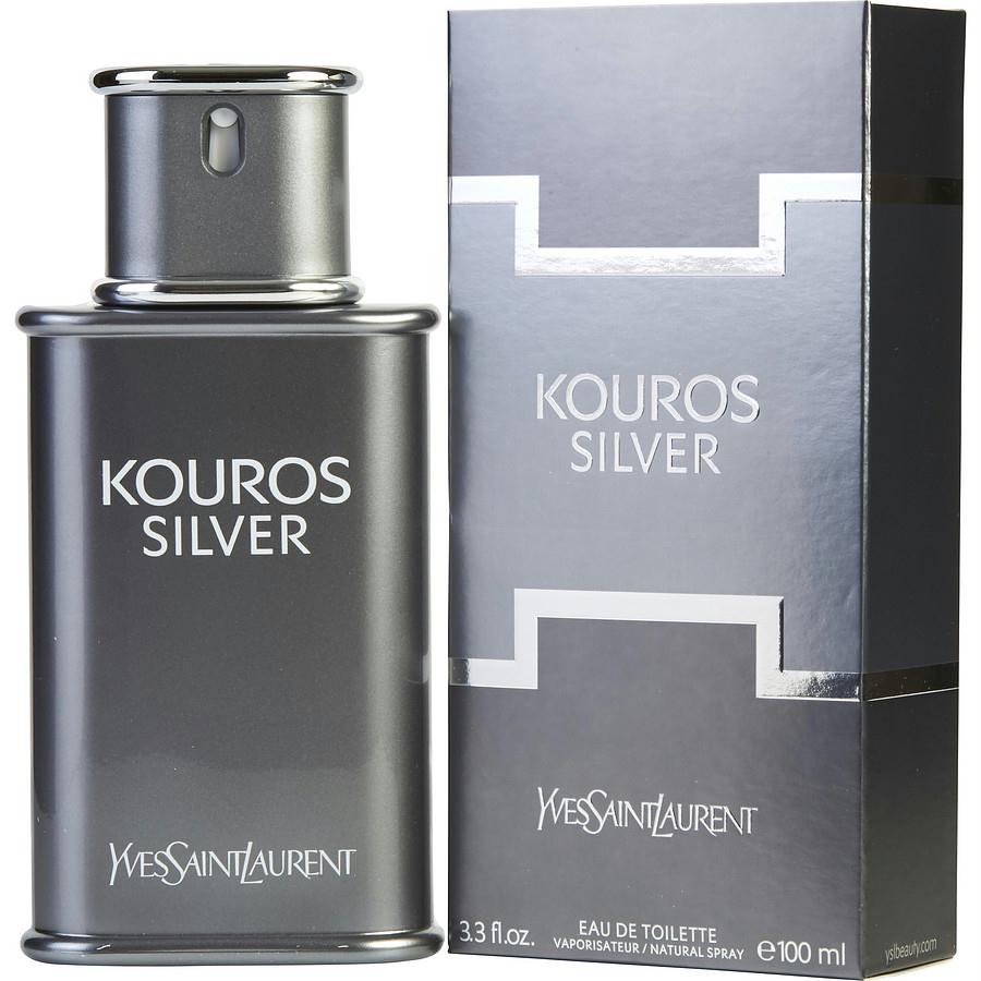 Kouros Silver By Yves Saint Laurent Edt Spray 3.3 Oz