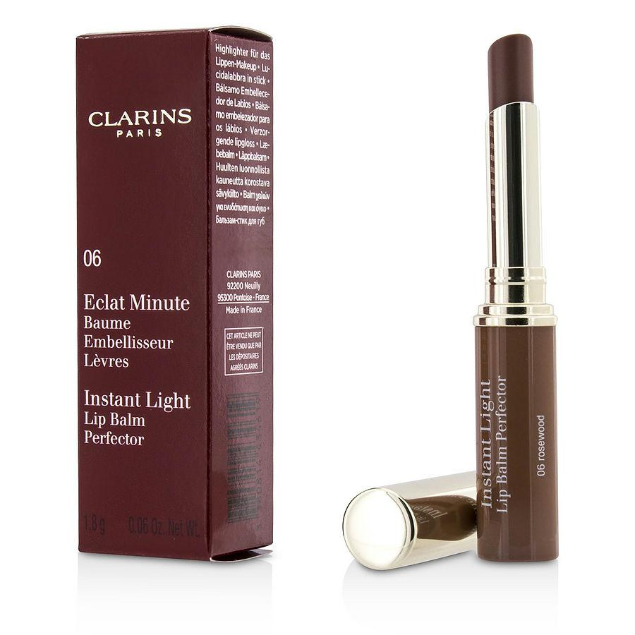 Clarins Eclat Minute Instant Light Lip Balm Perfector - # 06 Rosewood --1.8g-0.06oz By Clarins