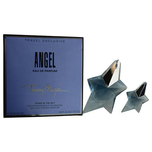 Angel By Thierry Mugler Eau De Parfum Spray Refillable .8 Oz & Free Eau De Parfum .17 Oz (travel Offer)
