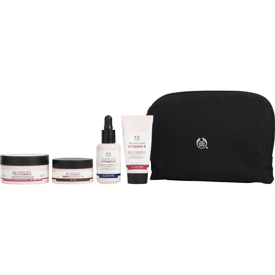 Set-vitamin E Deep Moisture Gift Set: Intense Cream + Serum In Oil + Facial Wash + Eye Cream +sleeping Mask -- 5pcs
