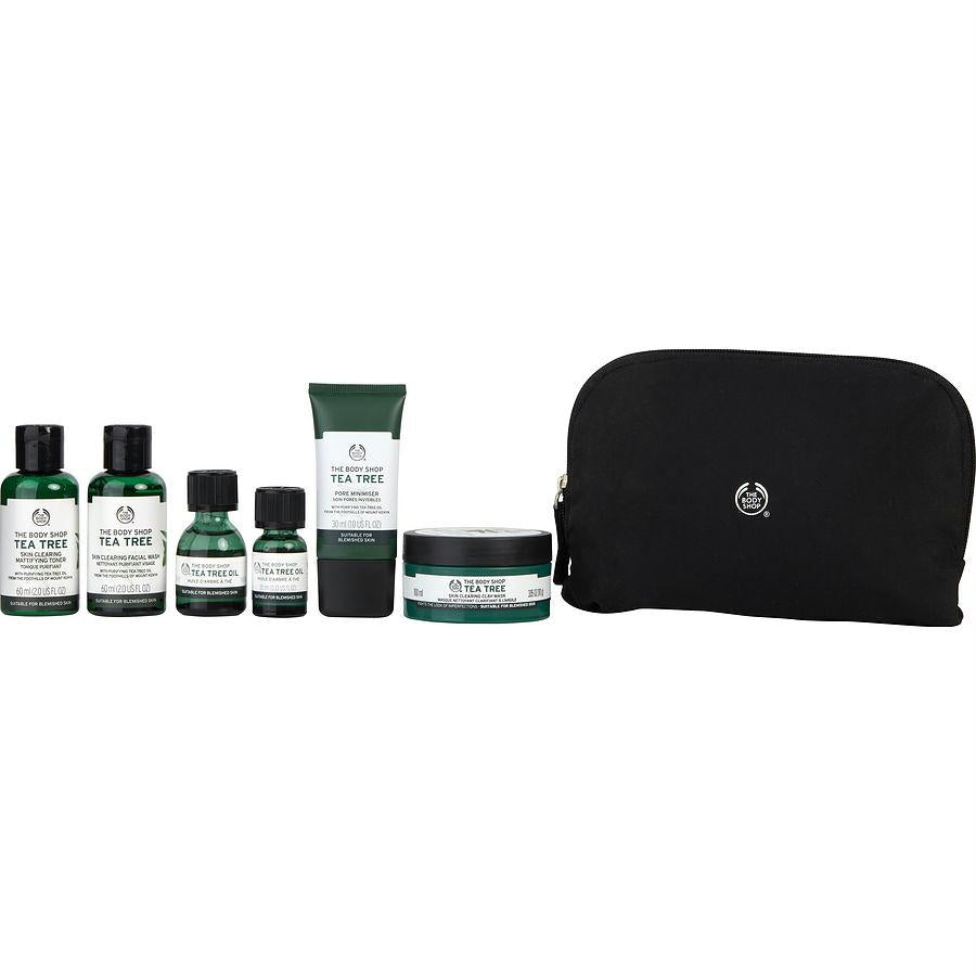 Set-tea Tree Purifying Collection: Tea Tree Oil + Jumbo Tea Tree Oil + Facial Wash + Mattifying Toner + Pore Minimiser + Clay Mask -- 6pcs