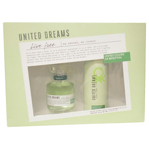 Benetton Gift Set Benetton United Dreams Live Free By Benetton