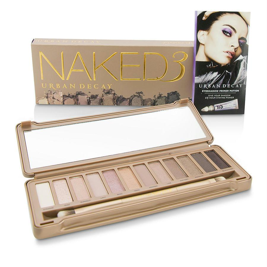 Urban Decay Naked 3 Eyeshadow Palette: 12x Eyeshadow, 1x Doubled Ended Shadow Blending Brush --- By Urban Decay
