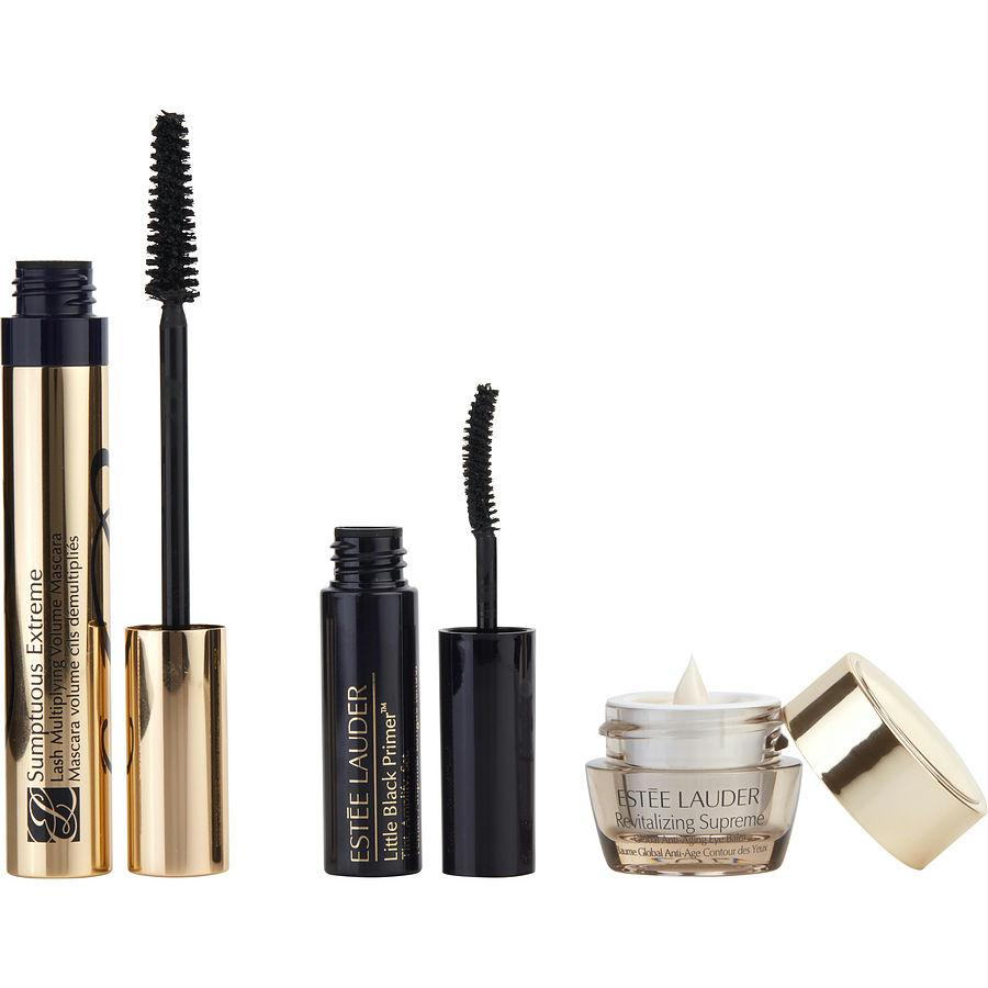 Sumptuous Extreme Set: Sumptuous Extreme Mascara 01 Black .27 Oz + Revitalizing Supreme Eye Balm .17 Oz + Little Black Primer .09 Oz
