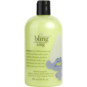 Bling With Lemon Zing Shampoo, Shower Gel & Bubble Bath --16oz